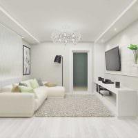 идея яркого декора комнаты в светлых тонах в современном стиле картинка
