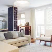 вариант светлого дизайна квартиры в светлых тонах в современном стиле фото