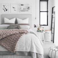 вариант красивого стиля белой спальни картинка