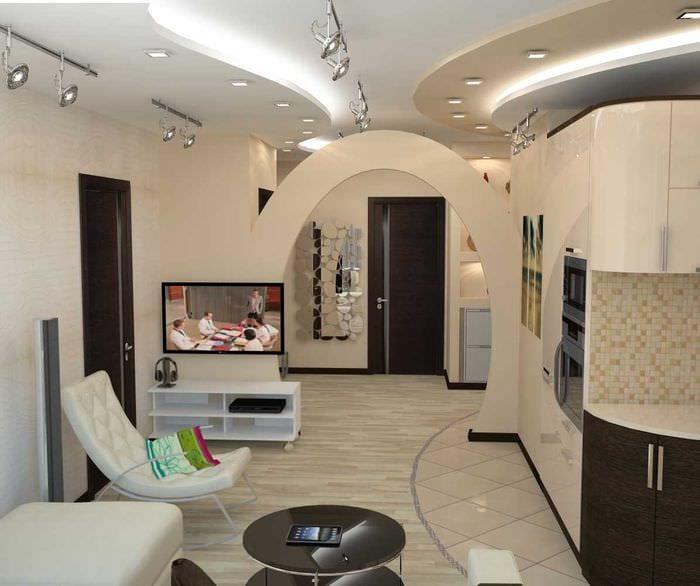 идея светлого интерьера комнаты в светлых тонах в современном стиле