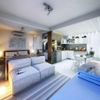 идея красивого дизайна небольшой гостинки фото