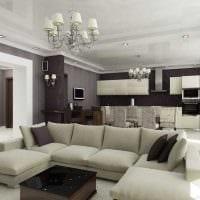 вариант яркого дизайна квартиры 70 кв.м картинка