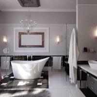 вариант современного интерьера ванной 2017 фото