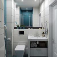 вариант яркого стиля ванной 3 кв.м фото