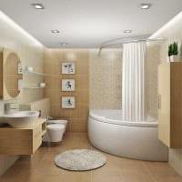 идея яркого дизайна ванной 4 кв.м фото