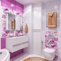 вариант современного стиля ванной комнаты 6 кв.м фото