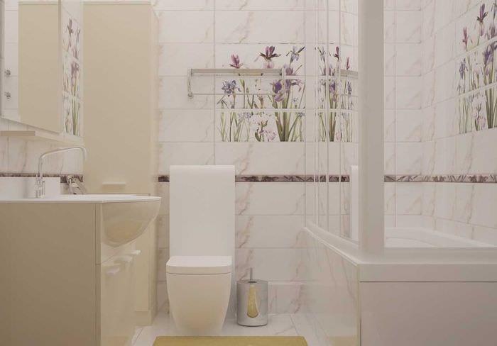 идея красивого дизайна ванной комнаты в классическом стиле
