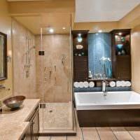 вариант красивого дизайна большой ванной картинка