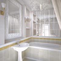 идея современного стиля большой ванной комнаты картинка