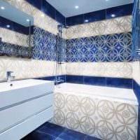 вариант необычного дизайна большой ванной фото