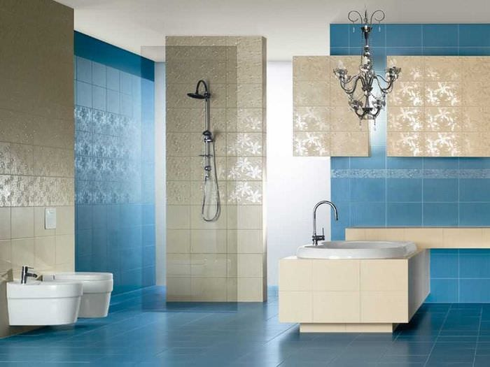 идея красивого стиля большой ванной комнаты