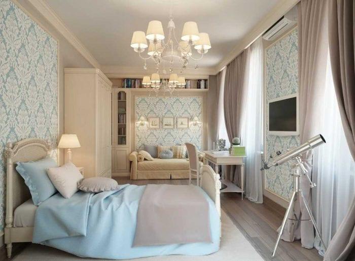вариант светлого декора квартиры в стиле современная классика