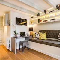 вариант красивого интерьера квартиры в светлых тонах в современном стиле фото