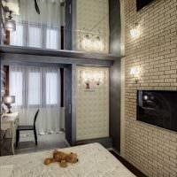 вариант яркого декора комнаты в стиле современная классика фото