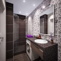 идея красивого стиля ванной комнаты 2.5 кв.м фото