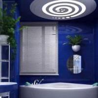 вариант яркого дизайна ванной комнаты 2017 картинка