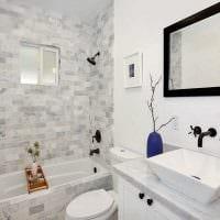 идея современного стиля ванной комнаты 3 кв.м картинка