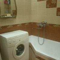вариант яркого интерьера ванной 3 кв.м картинка