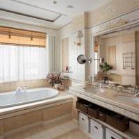 идея красивого стиля ванной с окном картинка