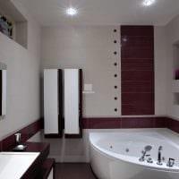 вариант красивого дизайна большой ванной комнаты картинка