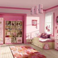 вариант красивого дизайна детской для девочки фото