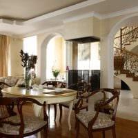 идея красивого интерьера квартиры в стиле современная классика картинка