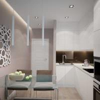 вариант яркого дизайна квартиры в светлых тонах в современном стиле фото