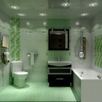 вариант современного интерьера ванной комнаты 2017 фото