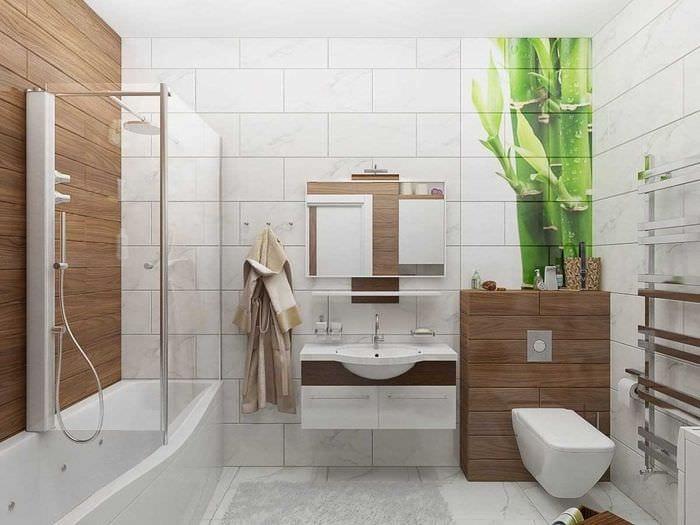 идея необычного интерьера ванной комнаты 2017