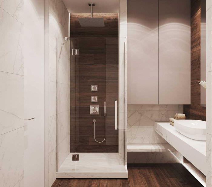идея необычного интерьера ванной 3 кв.м