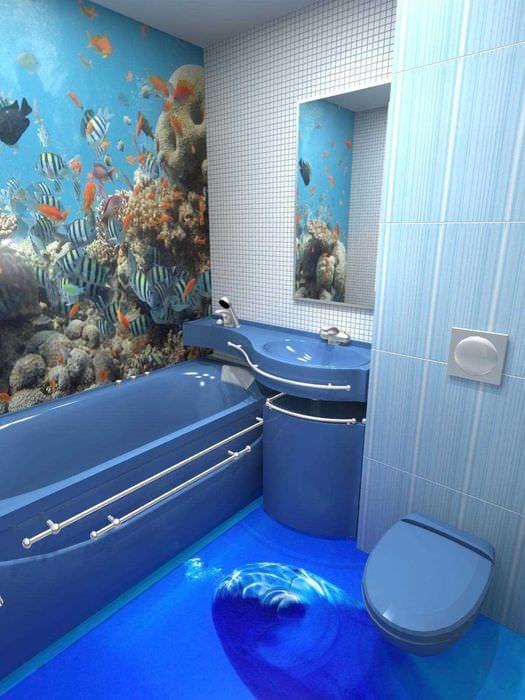 Ванная комната дизайн 3д пол