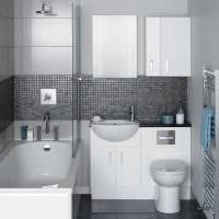 вариант современного дизайна ванной 3 кв.м картинка