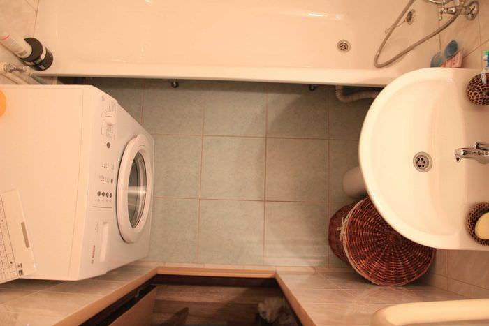 идея необычного стиля ванной комнаты 3 кв.м