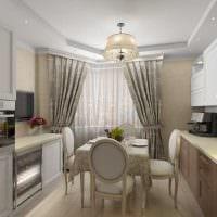 вариант необычного дизайна квартиры в стиле современная классика фото