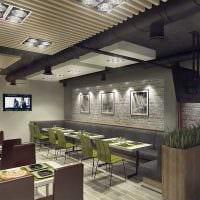 вариант красивого интерьера ресторана в стиле лофт картинка