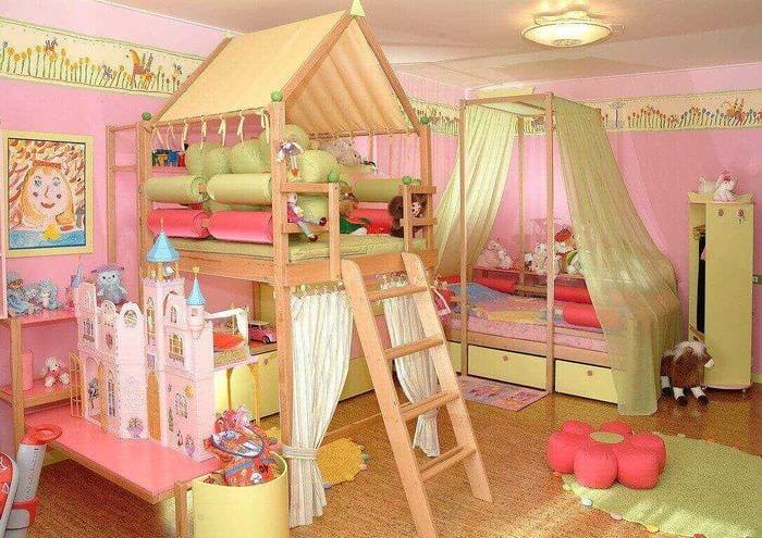 идея необычного дизайна детской комнаты для девочки