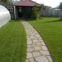 идея красивого декорирования двора частного дома фото