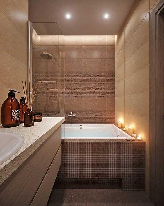 вариант яркого стиля ванной комнаты 4 кв.м