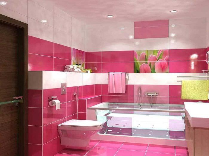 вариант необычного дизайна ванной 6 кв.м