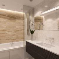 вариант необычного стиля ванной комнаты 2017 картинка