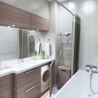 вариант красивого дизайна ванной 3 кв.м фото
