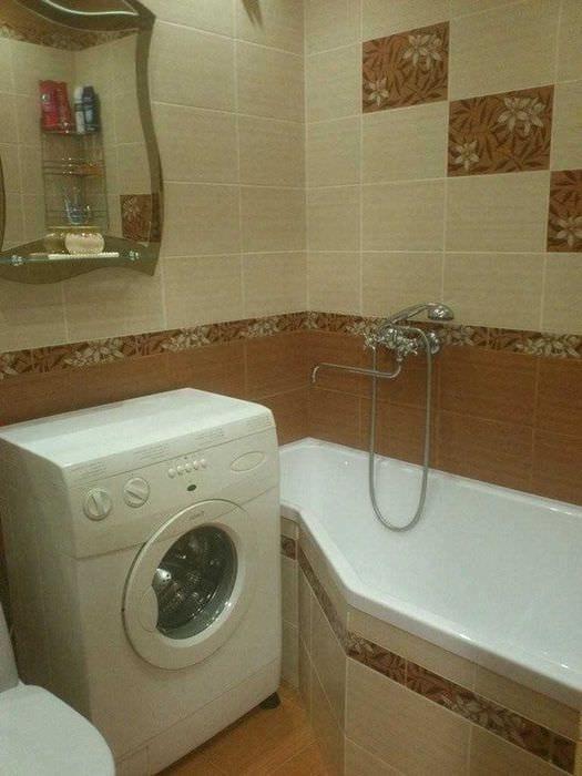 вариант современного стиля ванной комнаты 6 кв.м