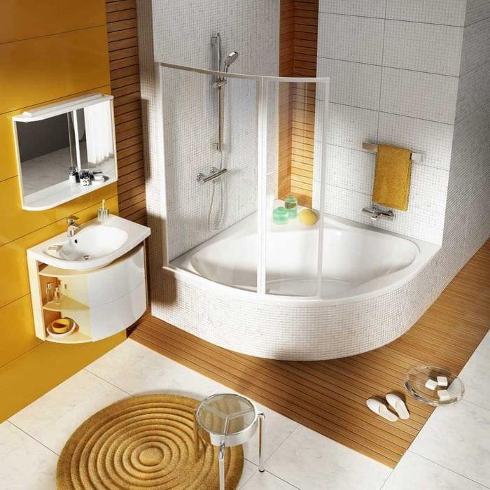 Ванная комната угловая дизайн