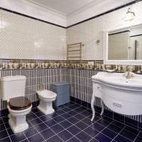 вариант красивого стиля ванной в классическом стиле картинка