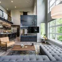 идея яркого стиля дома со вторым светом картинка