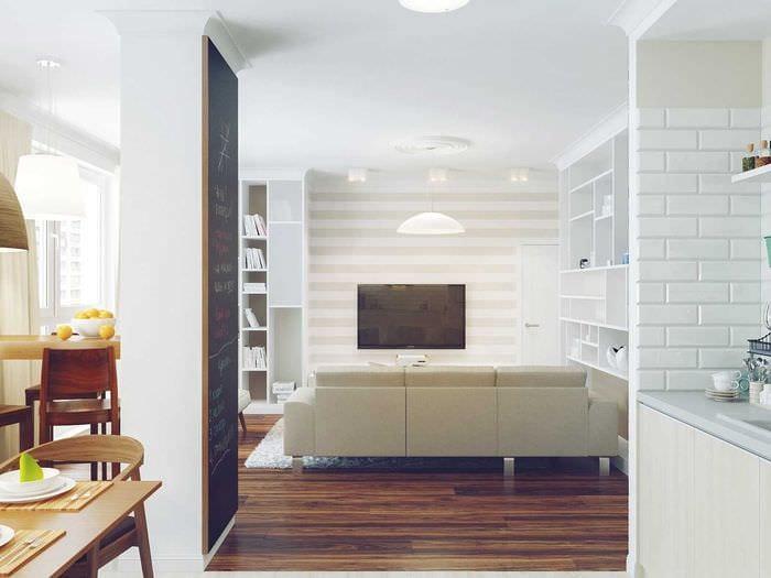 вариант красивого декора квартиры в светлых тонах в современном стиле