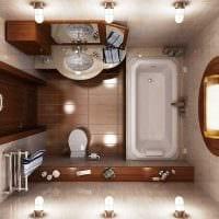 идея красивого дизайна ванной комнаты 2.5 кв.м картинка