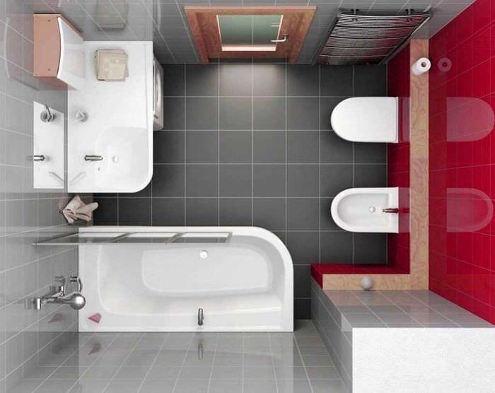 вариант красивого дизайна ванной комнаты 2.5 кв.м