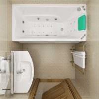 идея современного интерьера ванной комнаты 3 кв.м картинка
