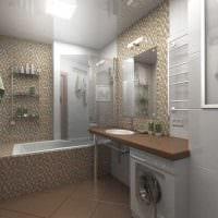 вариант красивого дизайна ванной 6 кв.м картинка